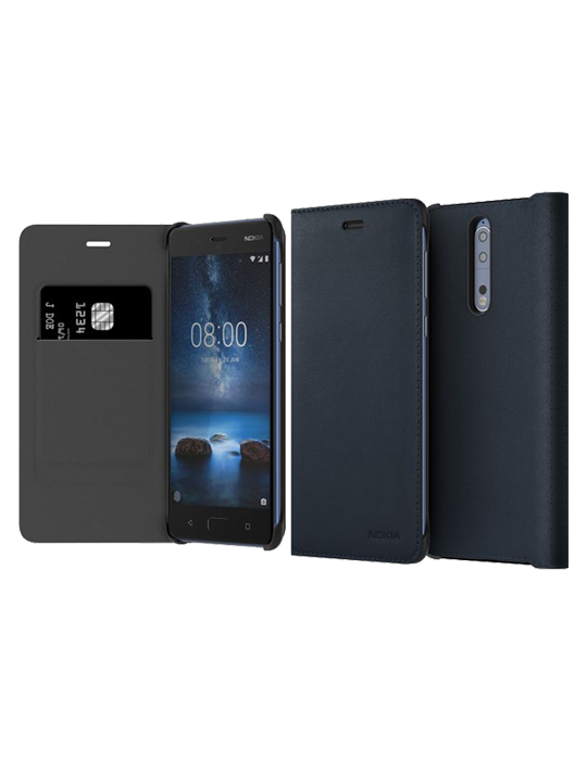 Pouzdro Nokia 8 Leather Flip