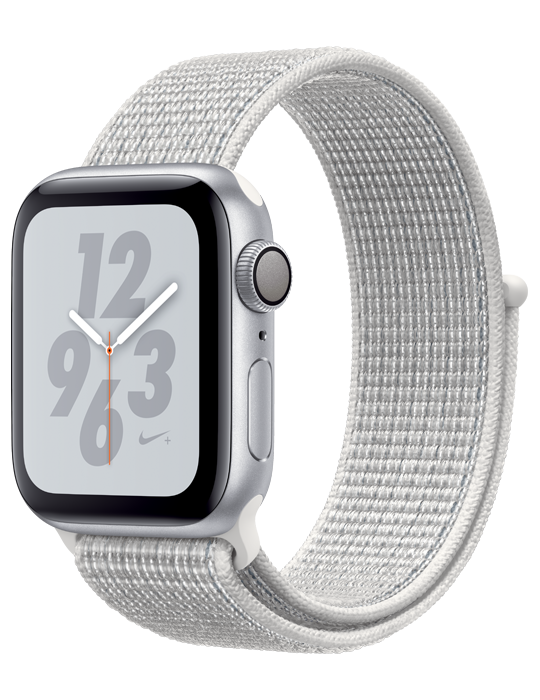 Apple Watch Nike S4 Sport Loop 44mm, stříbrná