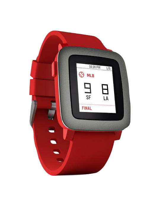 Pebble Time červené