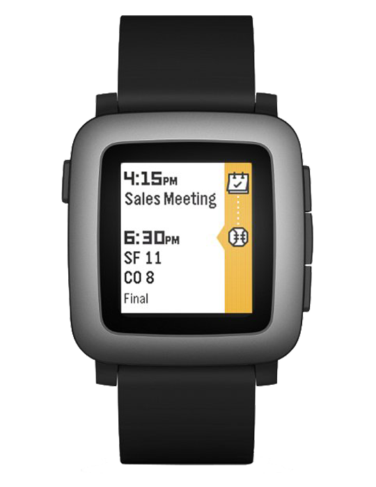 Pebble Time černé