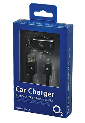 Autonabíječka 1 x USB 2.4A + MUSB-C 3.1