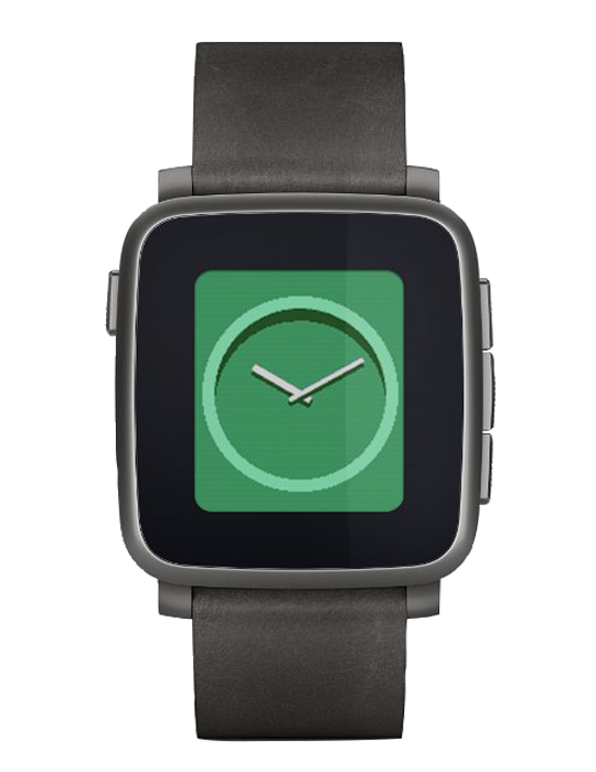 Pebble Time Steel černé