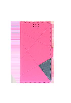 """Univerzální pouzdro Unibook Cross pro 5"""" mobilní telefony - růžová"""