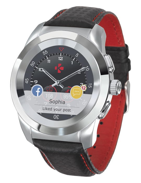 ZeTime Premium 39mm Carbon Red