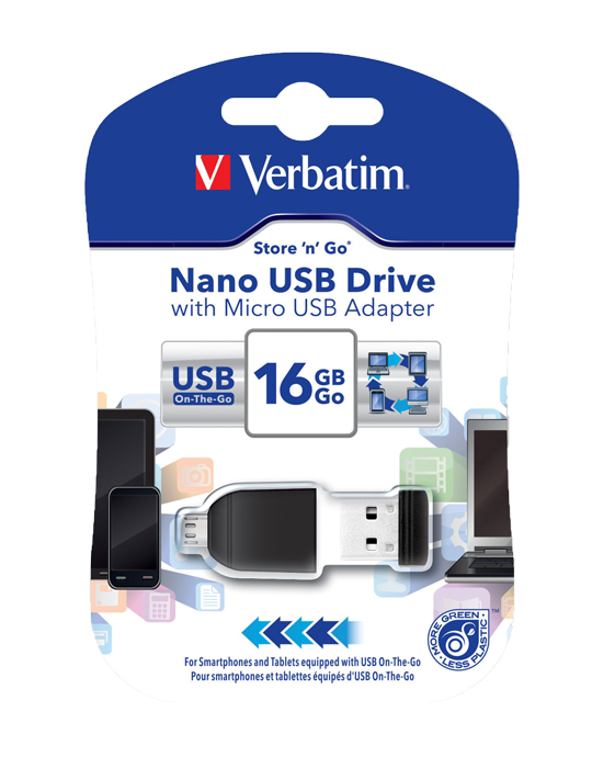 Flash disk OTG Verbatim 16 GB USB 2.0