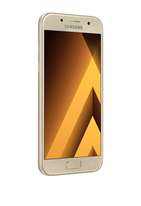 Samsung GALAXY A3 2017, zlatý Single SIM