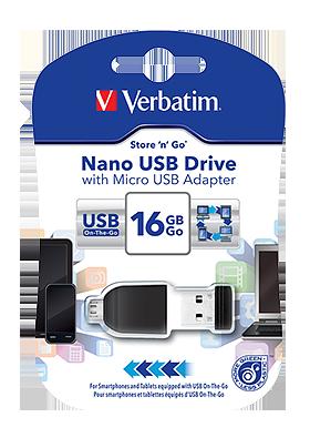 Flash disk OTG Verbatim 16 GB USB 2.0