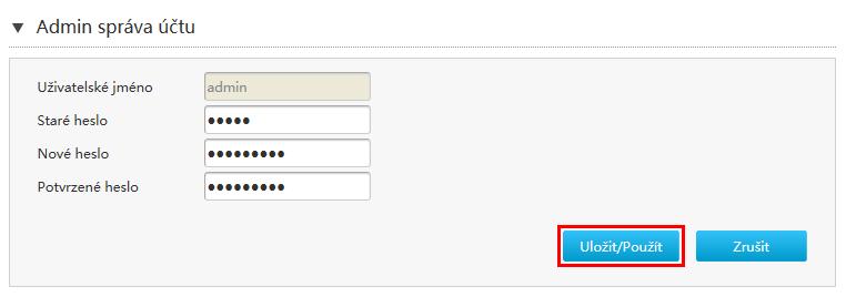 O2   Základní modem ZTE H267A - Nastavení přístupového hesla
