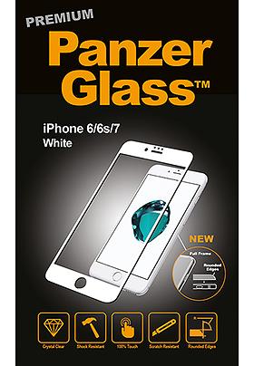 Tvrzené sklo PanzerGlass Premium iPhone 6/6s/7/8 bílé