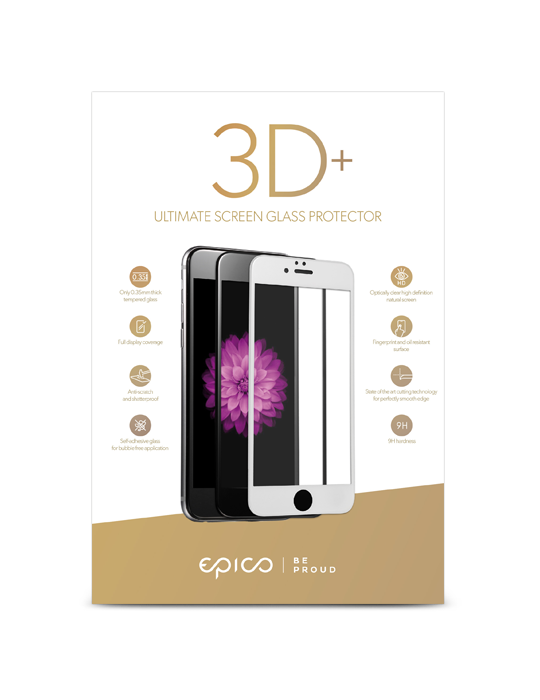 Tempered Glass Epico 3D+ iPhone 7/8 černé