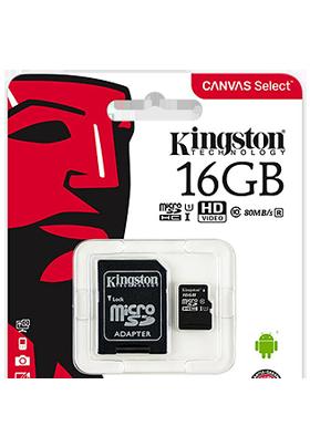 Paměťová karta Kingston 16GB CL10 s adaptérem