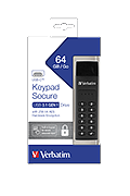 Keypad Verbatim Secure 64GB, USB-C