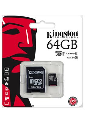 Paměťová karta Kingston 64GB s adaptérem