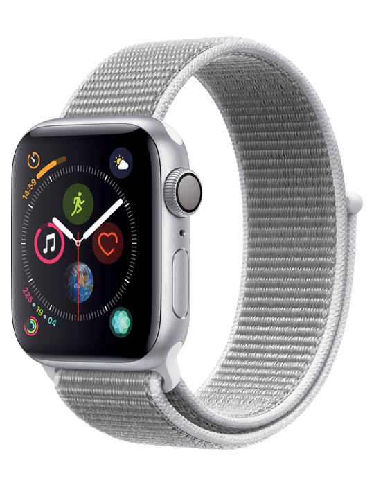 Apple Watch Series 4 Sport Loop 44mm, stříbrná