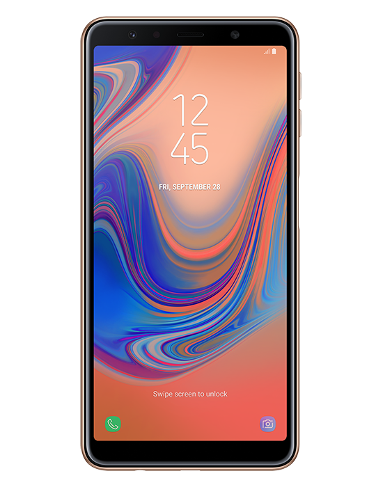 Samsung Galaxy A7 2018 64GB Single SIM, zlatá