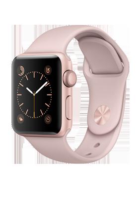 Apple Watch Series 2 38mm - růžově zlatý hliník, růžový sportovní řemínek