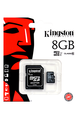 Paměťová karta Kingston 8GB s adaptérem