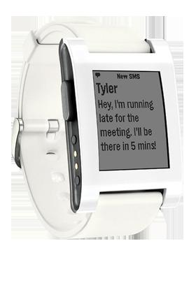 Pebble Classic Smartwatch bílé